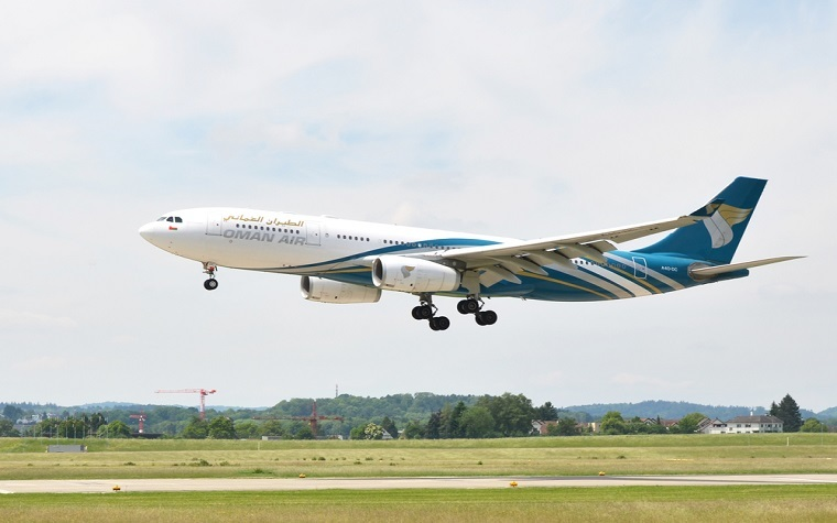 Oman Air receives its first Boeing 787 Dreamliner.