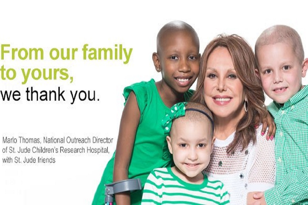 Marlo Thomas is the national outreach director for St. Jude Children's Research Hospital.