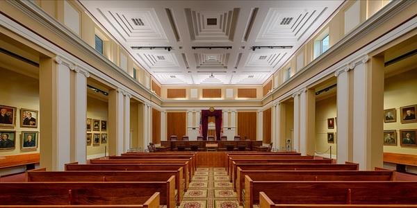 Florida Supreme Court chamber in Tallahassee