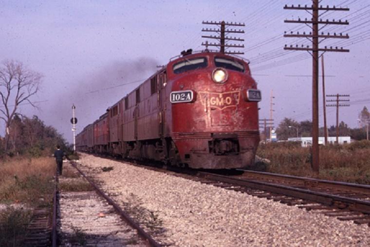 A GMO train recently leaves Granite City, Illinois.