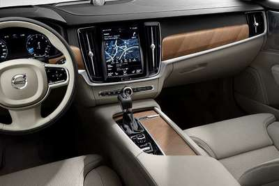 A high-tech interior to complement the exterior.