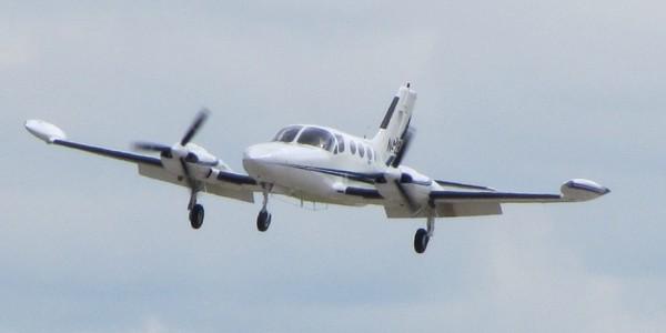 Large cessna421b landing