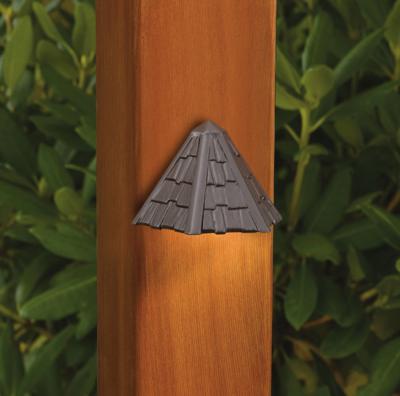 Kichler 15461AZT  Textured Architectural Bronze Thatched Roof Low Voltage Deck & Patio Light: $54.60