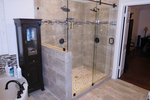 Frameless glass showers have become far and away the most popular option for remodels.