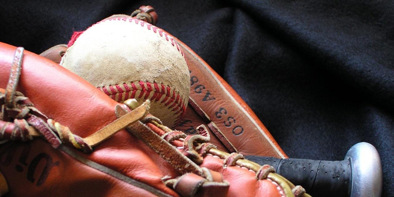 Baseball baseball mit glove