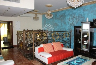 Living space in the three bedroom villa in Abu Dhabi's Gate City area.