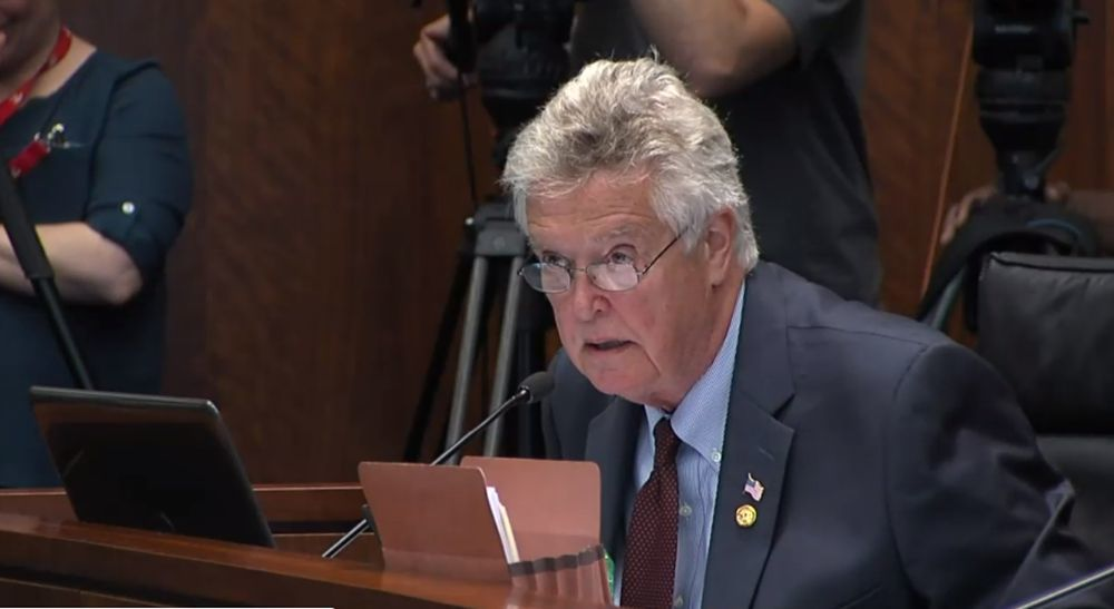 Rep. Steven Reick (R-Woodstock) at June 20 CPS sexual abuse hearing.