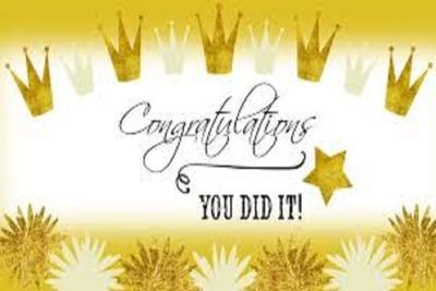 Medium congrats