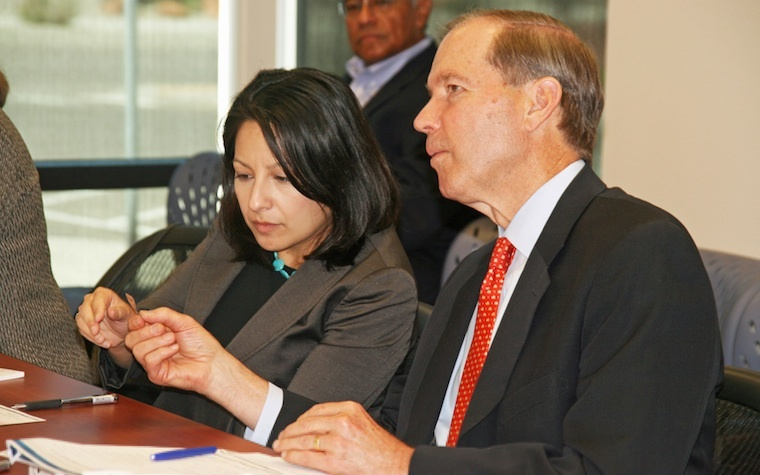 U.S. Sen. Tom Udall (D-NM), right, and acting Office of Technology Transitions Director Jetta Wong are part of an effort to spread technology developed in federal labs into the private sector.