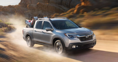 The Ridgeline's long body and sturdy construction make it ideal for rough driving conditions.