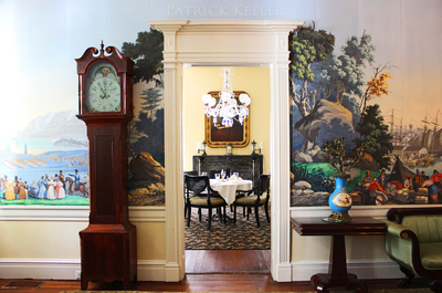 The grandfather clock is a timeless favorite to create Old World interior elegance.
