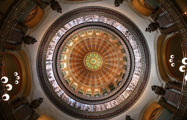 Large illinois state capitol dome