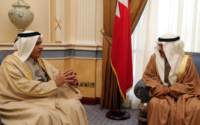 Bahrain prime minister shows appreciation for Qatar's departing ambassador