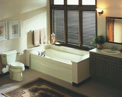 The Mariposa BubbleMassage Bath from Kohler.