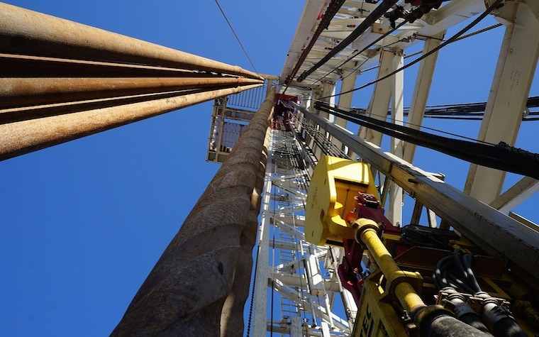 Natural gas drilling operation