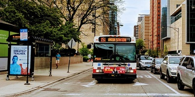 Bus on Chicago Transit Authority's 151 Sheridan route