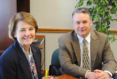 Trudy Mitchell and Steve Howsare from the Southern Alleghenies Planning and Development Commission