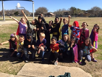 Boone Elementary School students recently celebrated Random Acts of Kindness Week. The students dressed as super heroes to show off their super nice powers.