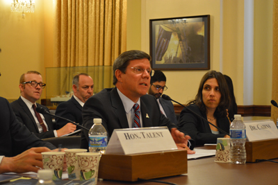 Interim Dean of Medicine at the University of Ariz., Charles Cairns testifies in a hearing on biological threats