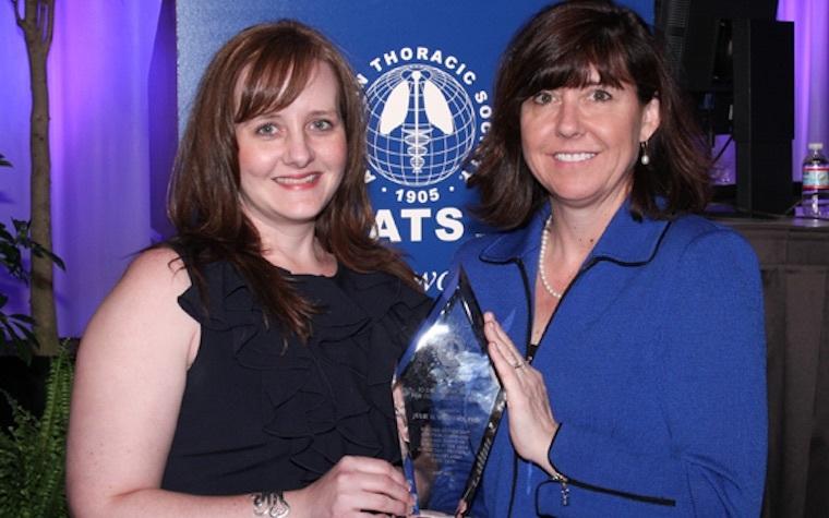 Julie Ledford (left) together with research partner Monica Kraft (right).