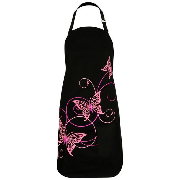 Butterfly Bliss Pink Ribbon Apron