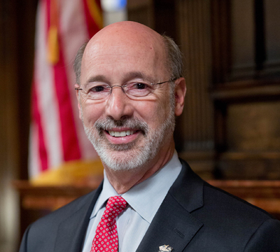 Gov. Tom Wolf has proposed a 5 percent severance tax and a flat fee of 4.7 cents per 1,000 cubic feet on natural gas drillers in the Marcellus Shale.