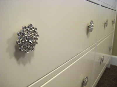 A simple change of hardware can make that special bedroom dresser unique.