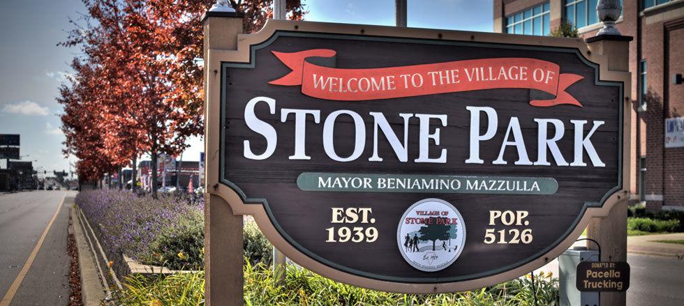 Village of stone park sign