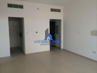 The living space in the one bedroom apartment in Al Sabeel that is now available.
