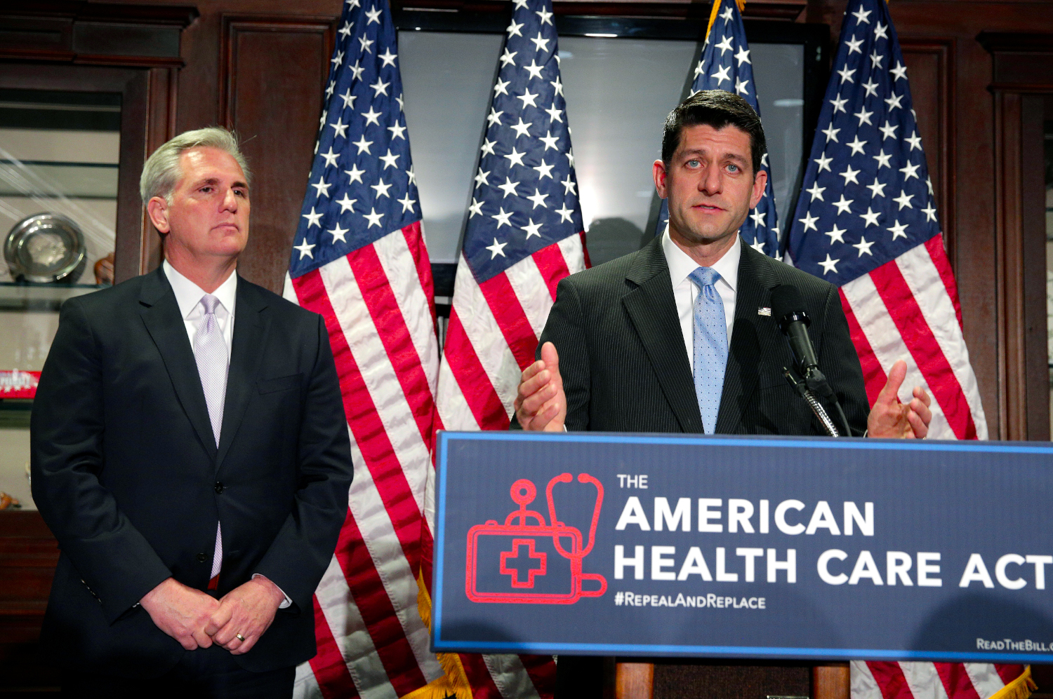 House Speaker Paul Ryan (R-WI) and House Majority Leader Kevin McCarthy (R-SC) discuss the American Health Care Act