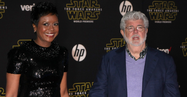 George Lucas and his wife, Mellody Hobson