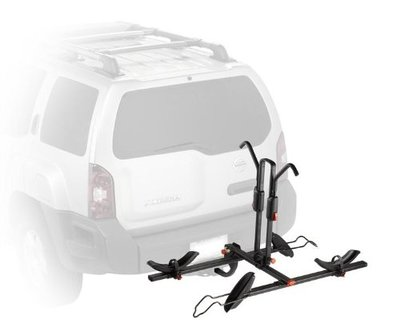A hitch-mount bike rack makes it simple to load up a bicycle and hit the road for an active adventure.