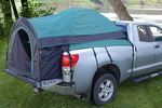 This tent turns any pickup bed into comfortable sleeping quarters.